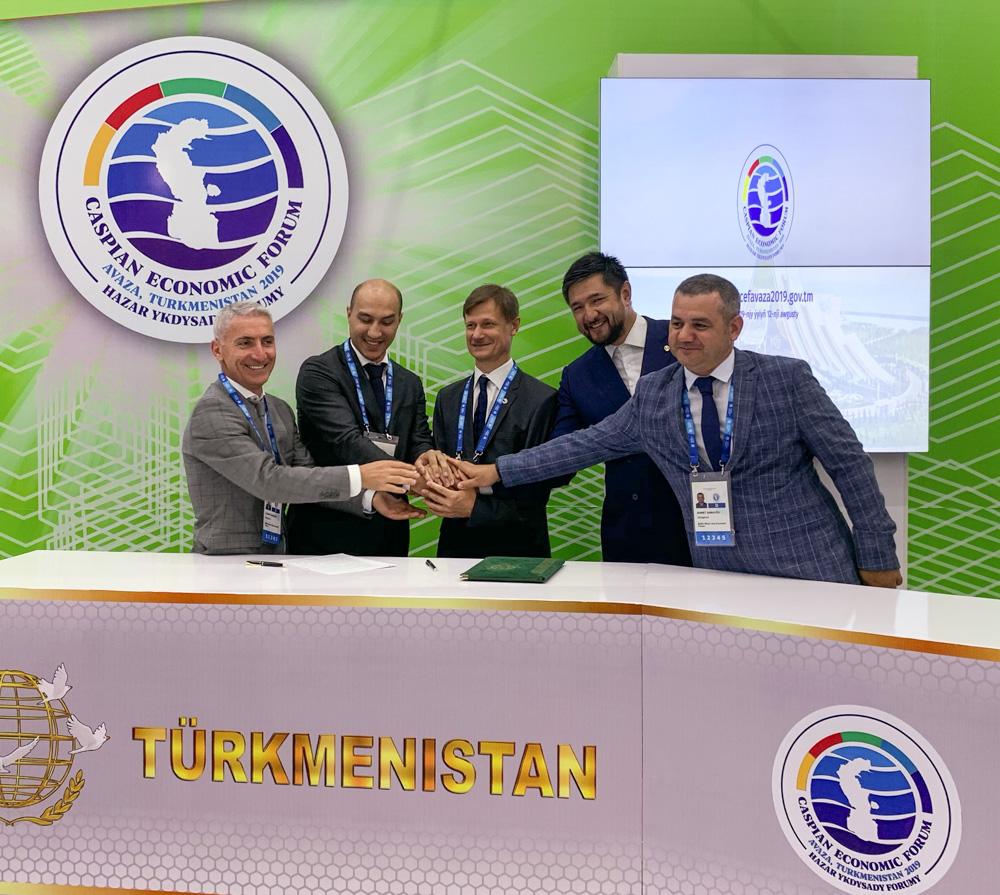 Підписання меморандуму про співпрацю з Туркмен Міллі Логістик - Signing the memorandum of cooperation with Milli Turkmen Logistics