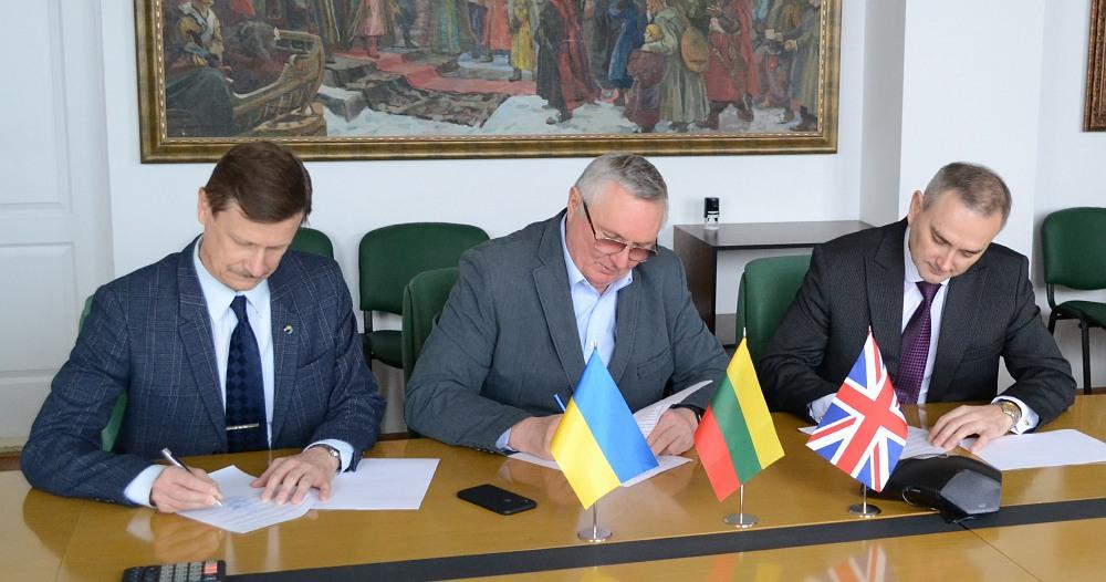 Підписання меморандуму про співпрацю між Британсько-Українською компанією «Дніпро Карго Лімітед», Балтійсько-Чорноморського економічного форуму та координатора міжнародного проекту створення єдиного логістичного центру Global Multimodal Logistics