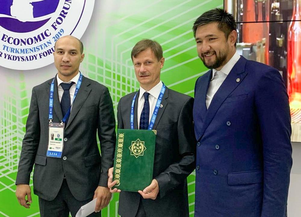 Після підписання меморандуму про співпрацю з Туркмен Міллі Логістик - After signing the memorandum of cooperation with Milli Turkmen Logistics
